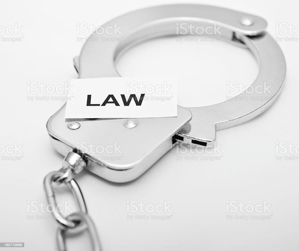 handcuff on white stock photo