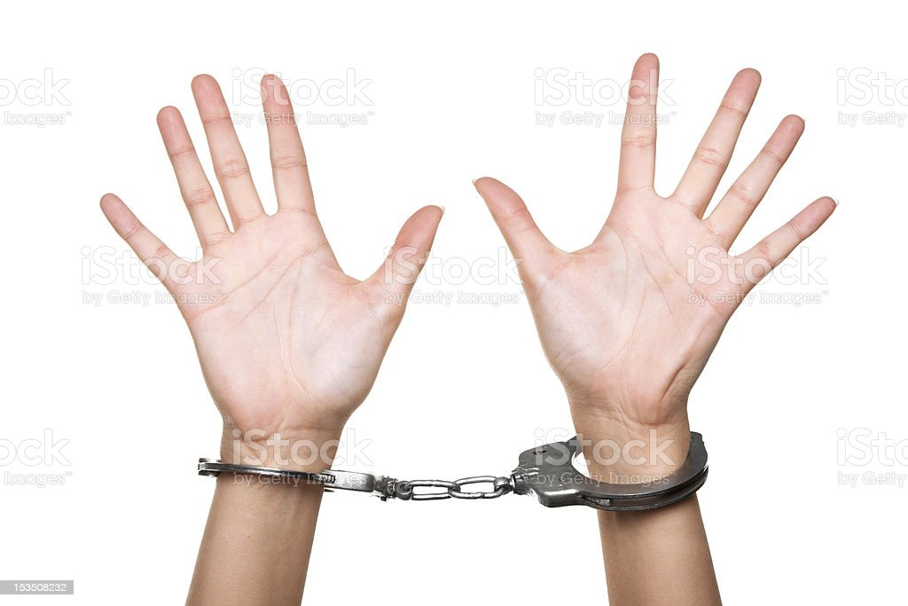 Handcuffed royalty-free stock photo