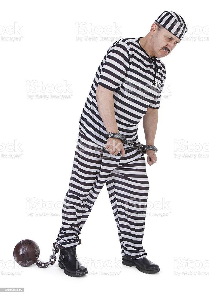 handcuffed prisoner royalty-free stock photo