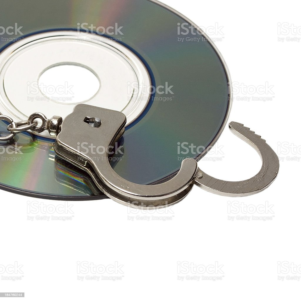 handcuffs in pirate dvd royalty-free stock photo