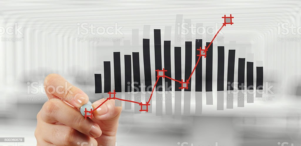 Hand-drawn business strategy chart royalty-free stock photo