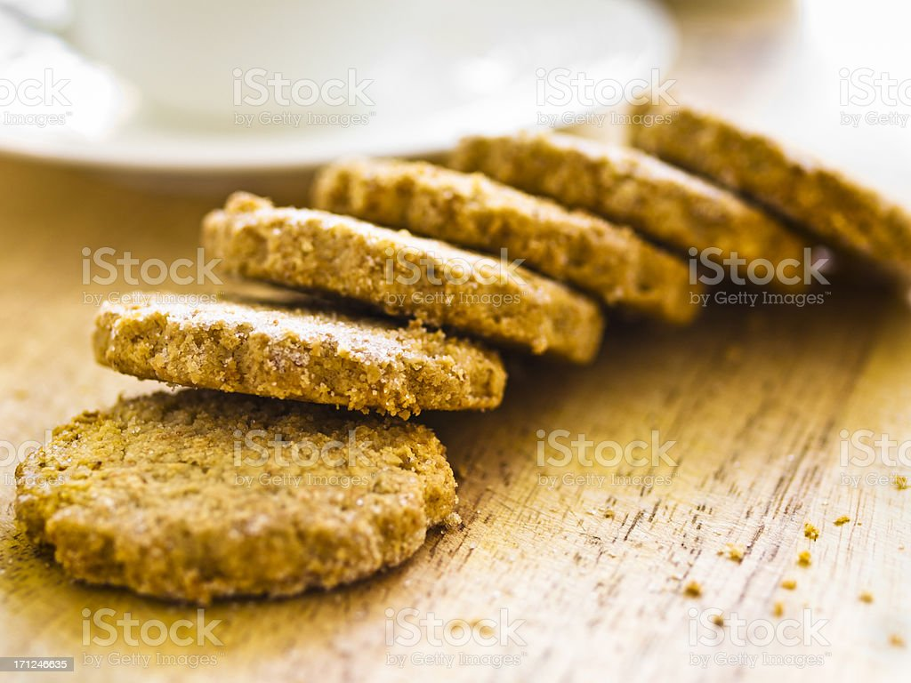 Handemade Oatmeal Biscuits stock photo