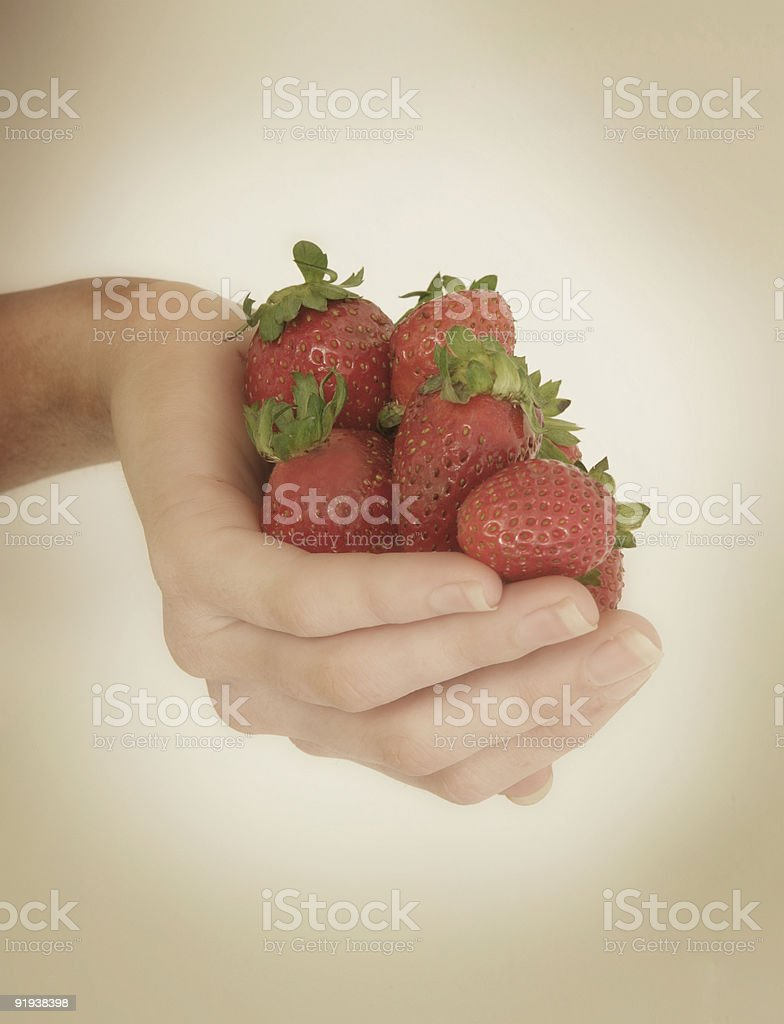 Handful of Fruit stock photo