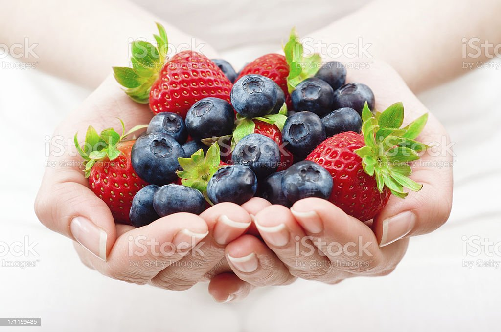 handful of fruits royalty-free stock photo