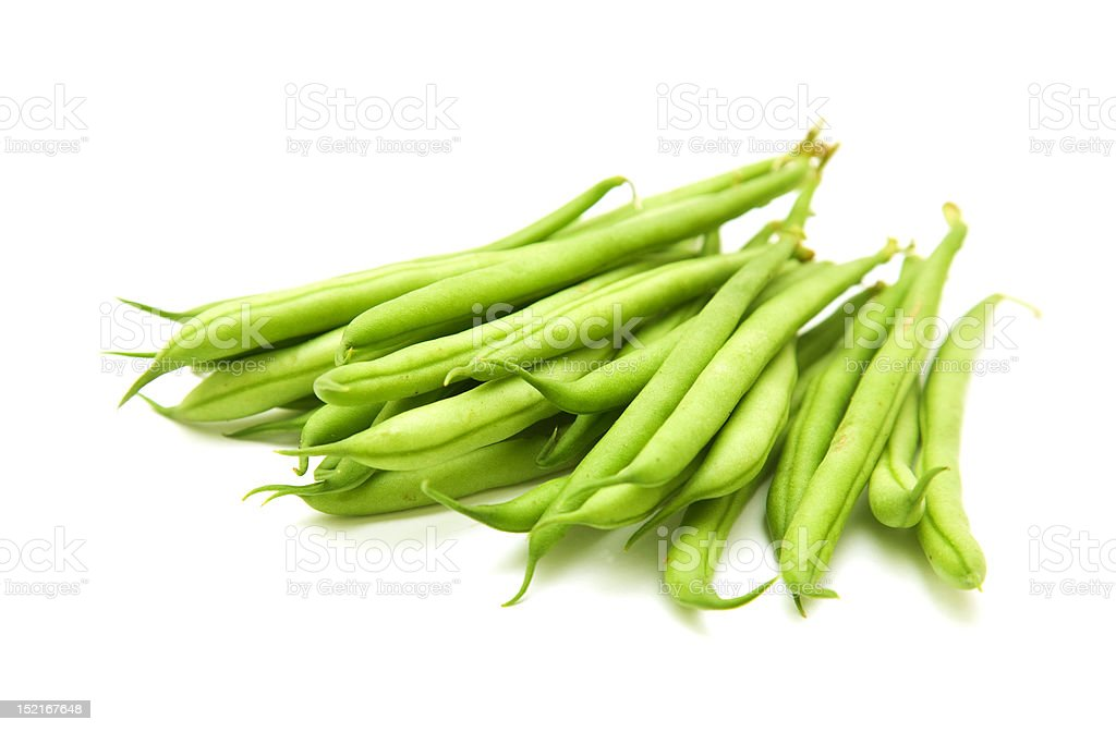 handful of green beans royalty-free stock photo