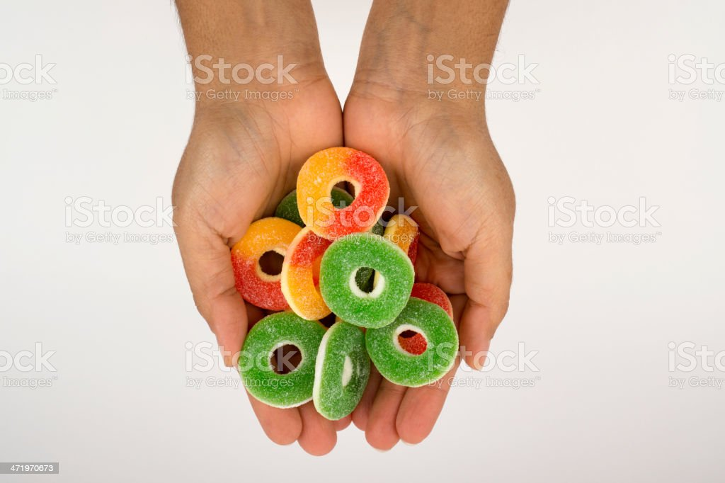 Handful of jelly beans royalty-free stock photo
