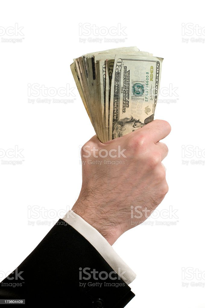 handful of money royalty-free stock photo