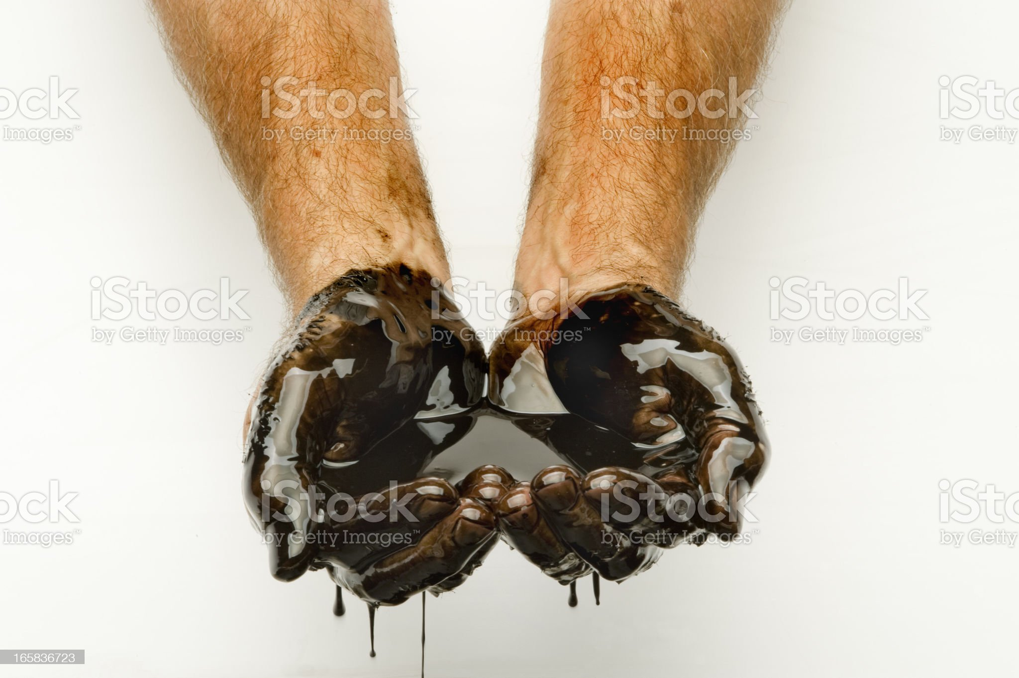 Handful of Oil royalty-free stock photo