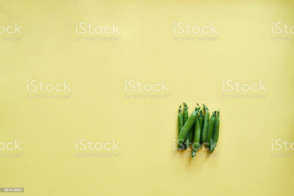 Handful of pea pods stock photo