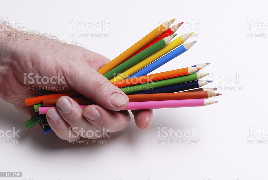 Handful of Pencils royalty-free stock photo