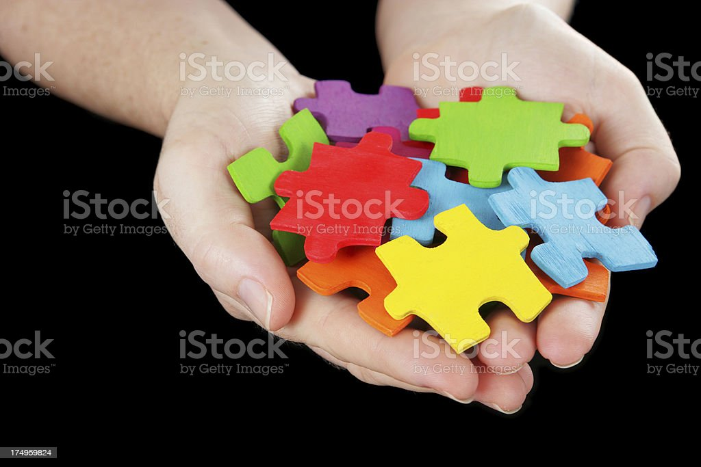 Handful of Solutions royalty-free stock photo