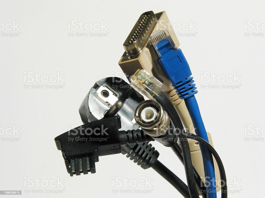 Handfull of cables royalty-free stock photo