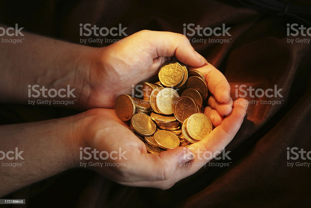 Handfuls royalty-free stock photo