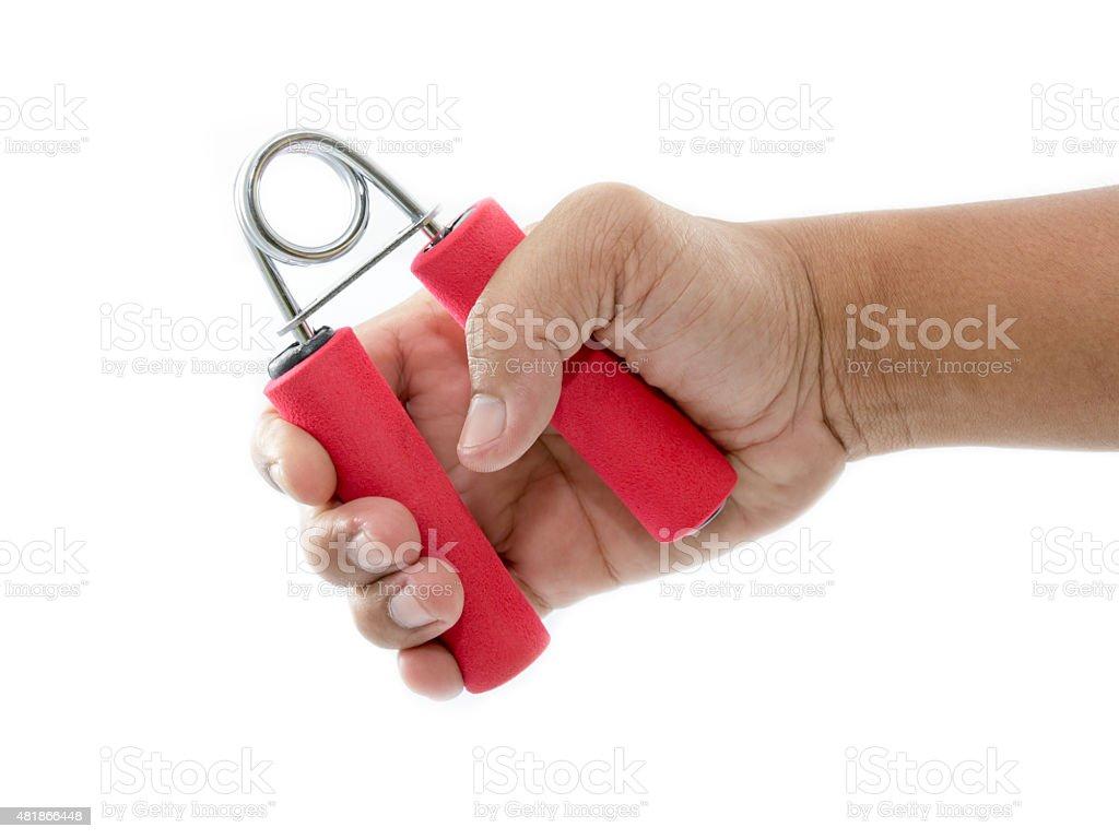 handgrip and hand stock photo