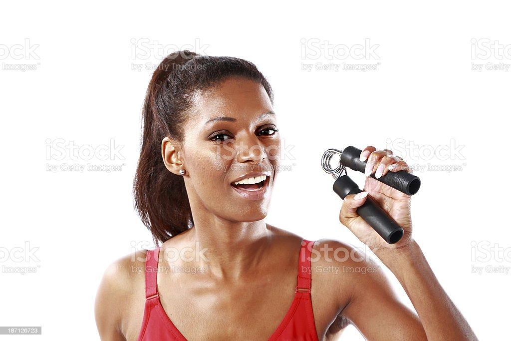 handgrip exercise stock photo