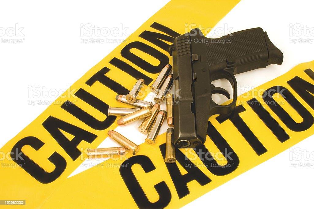 Handgun 357 Magnum and Bullets...Caution stock photo