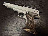 Handgun Airgun medium shot wooden grip