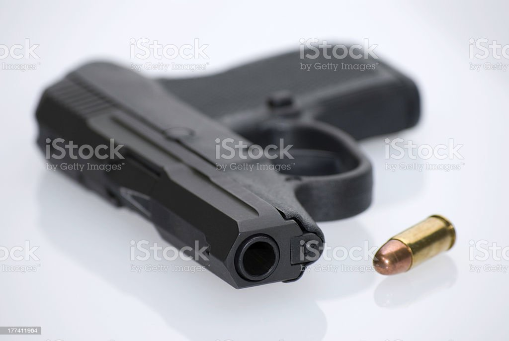 Handgun and Cartridge royalty-free stock photo