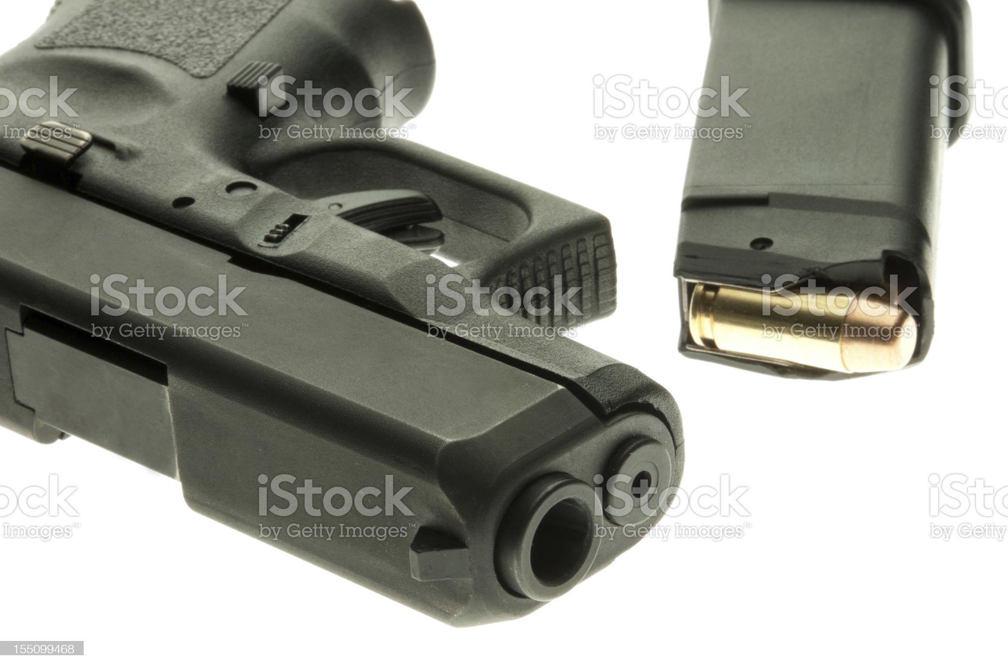 Handgun and full clip royalty-free stock photo