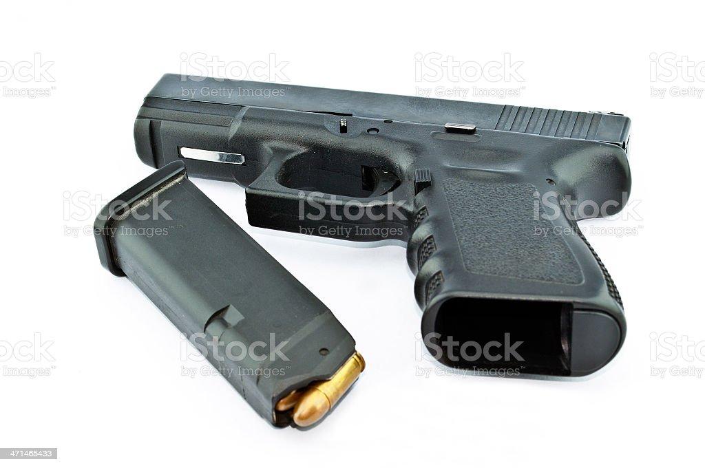 Ręczna broń palna i pełne klipu zbiór zdjęć royalty-free