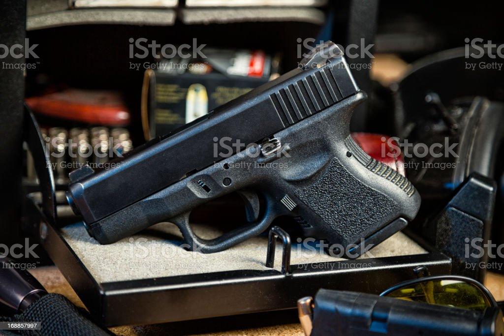 Handgun and Safe royalty-free stock photo
