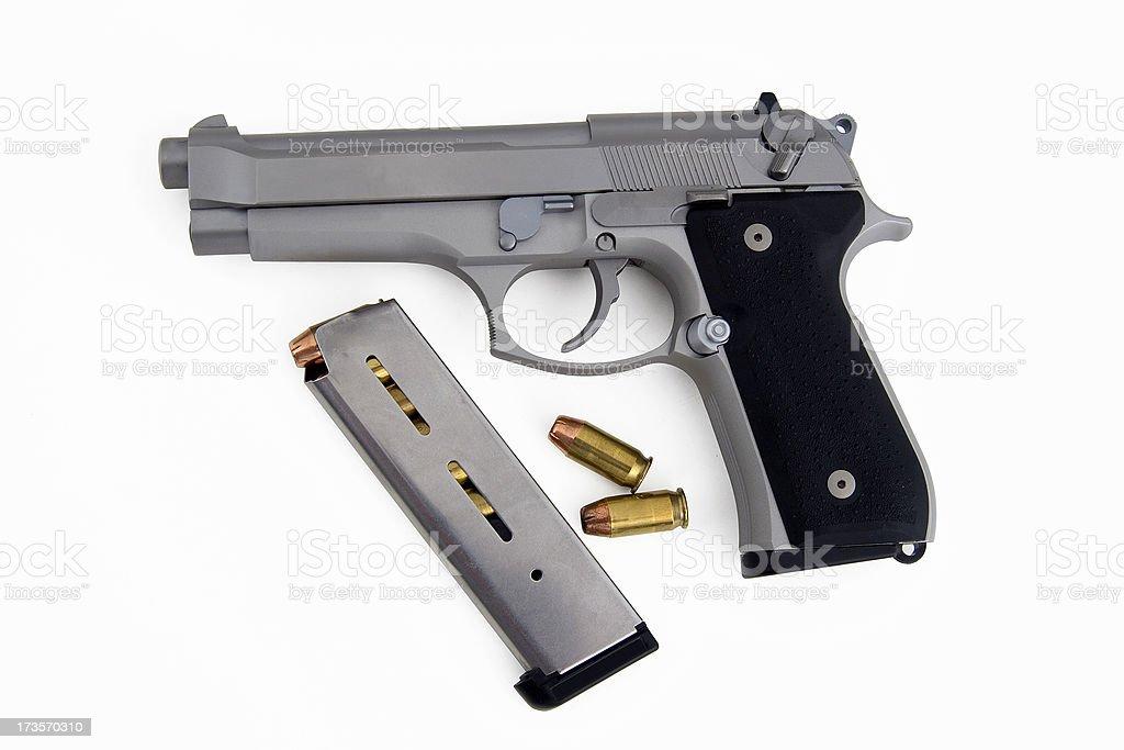 Handgun components stock photo