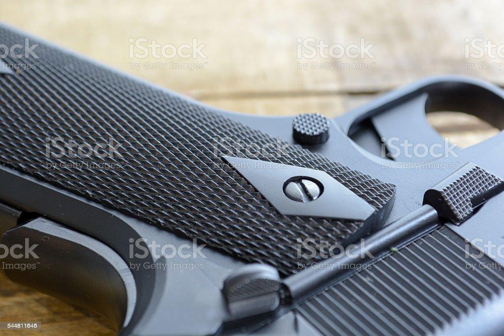 Handgun Detail stock photo