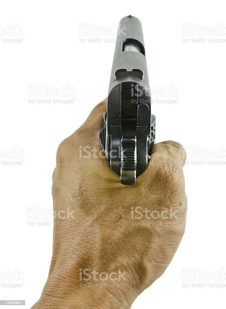 Handgun isolated royalty-free stock photo