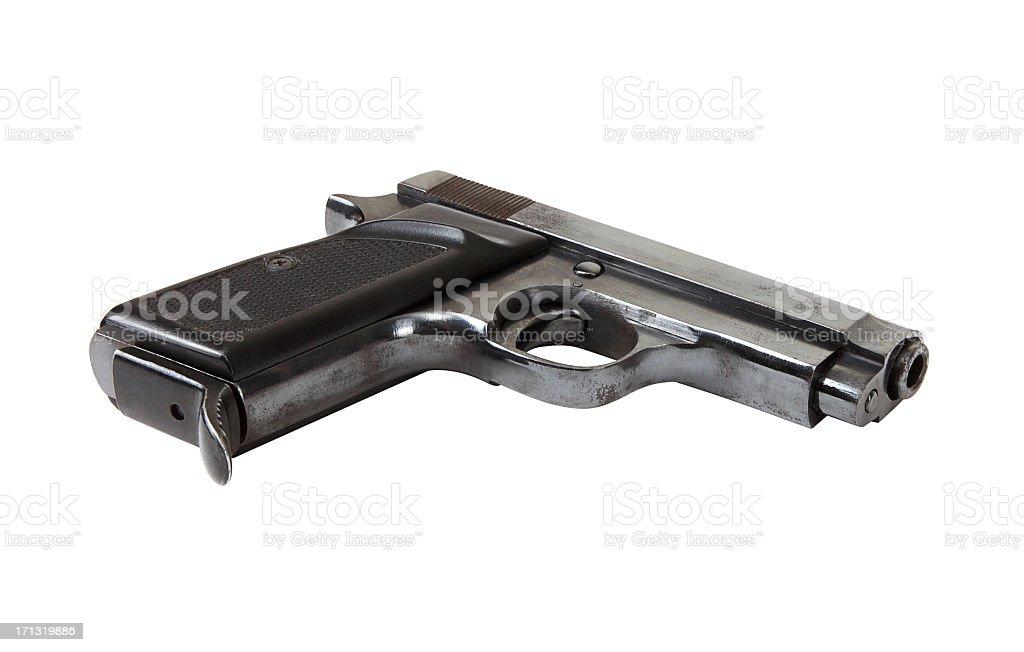 Handgun (Clipping Path) stock photo