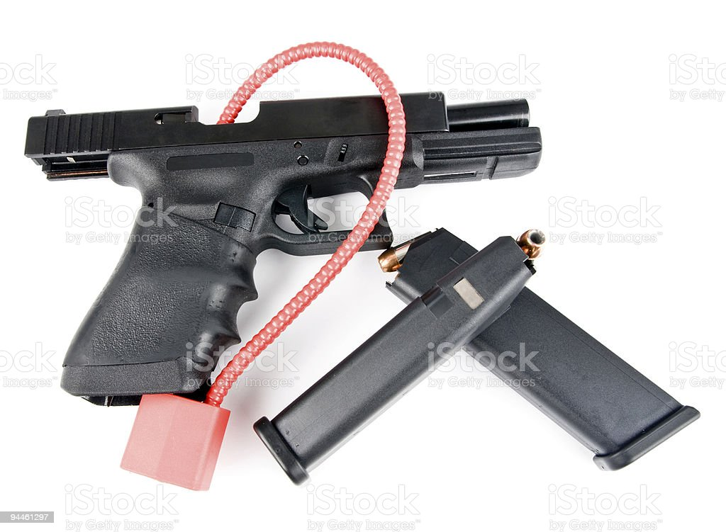 Handgun Safety stock photo