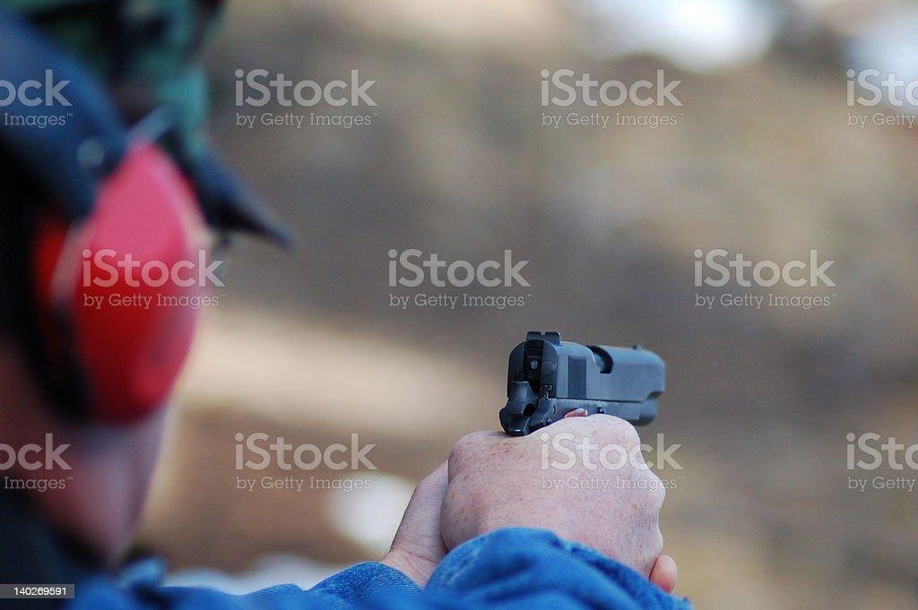 Handgun Showdown royalty-free stock photo