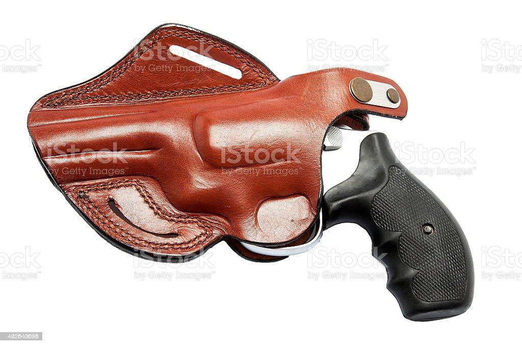 Handgun With Holster stock photo