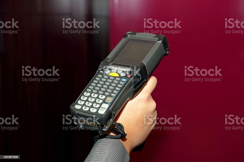 Handheld Barcode Reader stock photo
