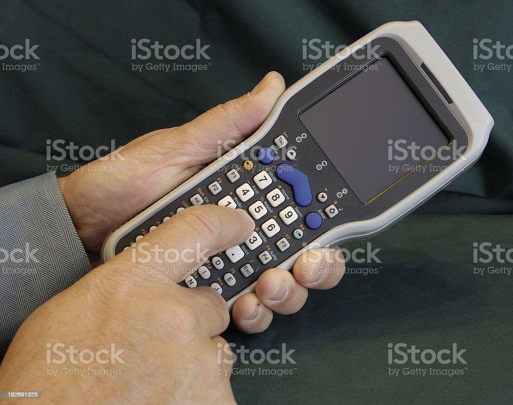 Handheld Barcode Scanner royalty-free stock photo
