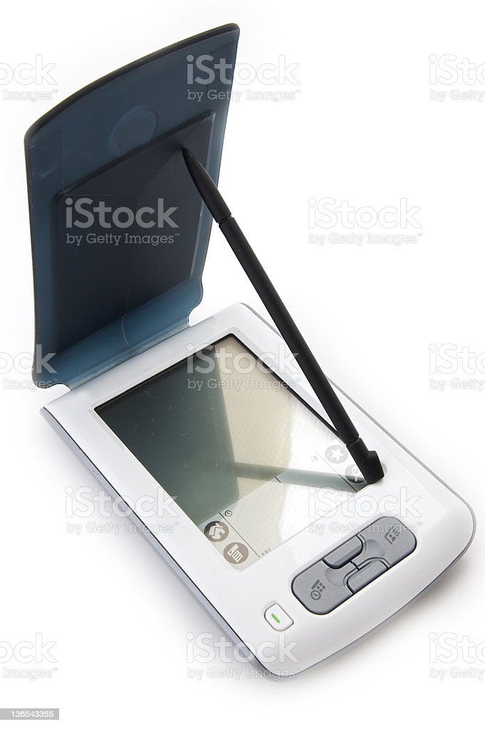 handheld computer stock photo