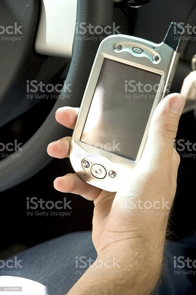 Handheld PDA royalty-free stock photo