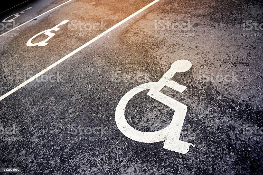Handicap parking stock photo