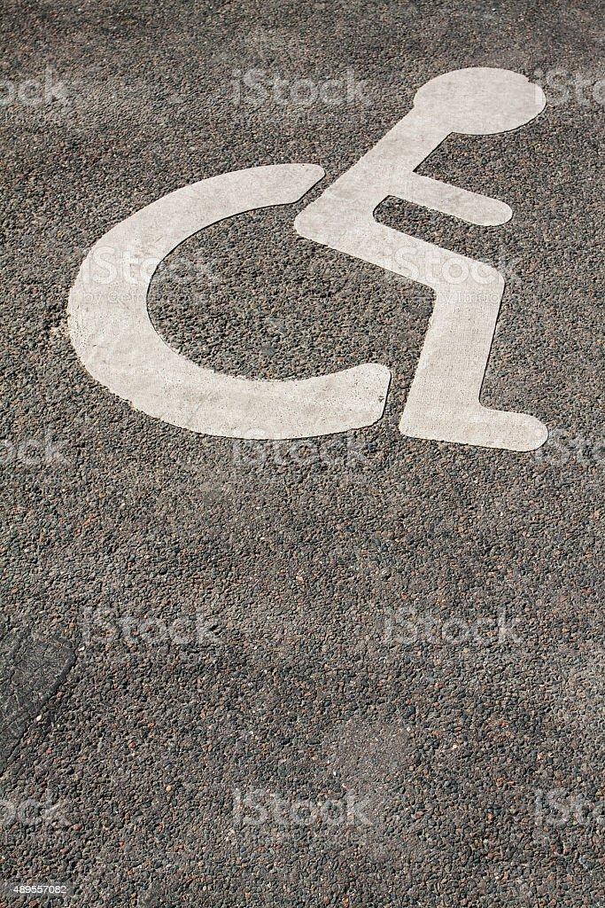Handicap Parking Place stock photo