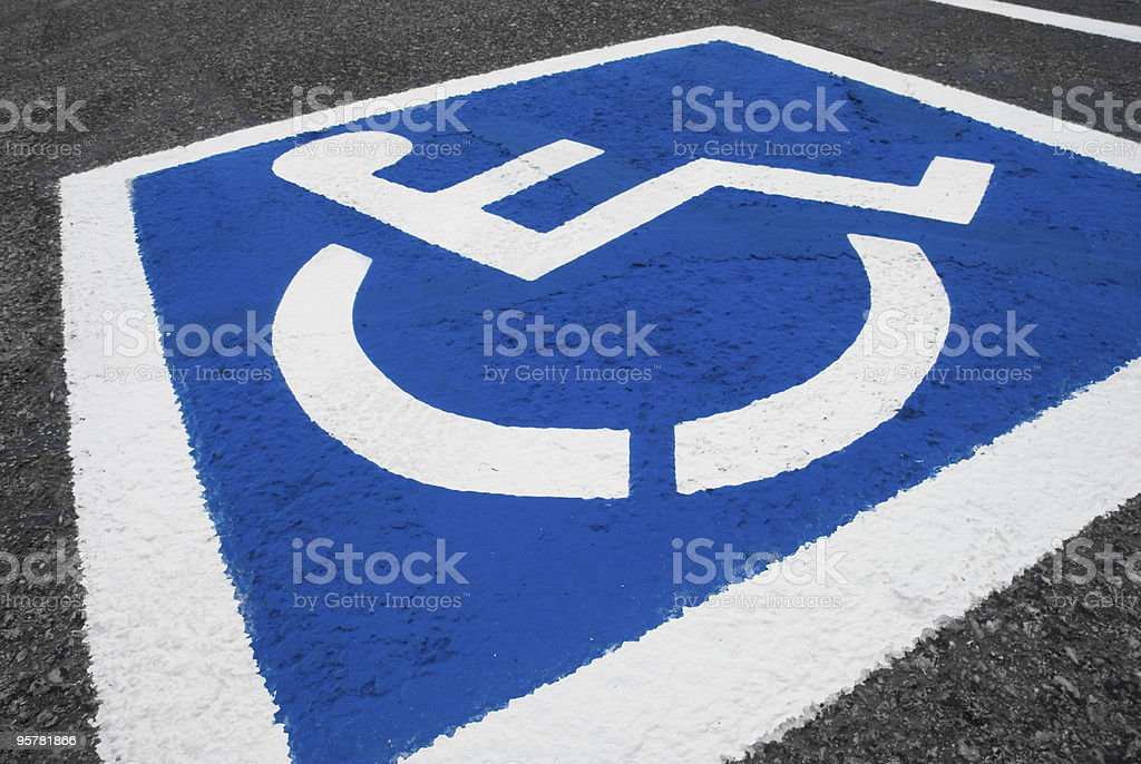 Handicap parking space royalty-free stock photo
