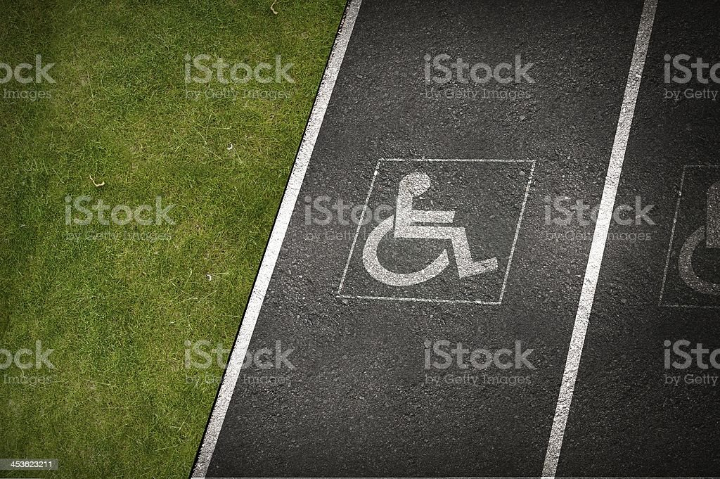 Handicap Parking Spot royalty-free stock photo