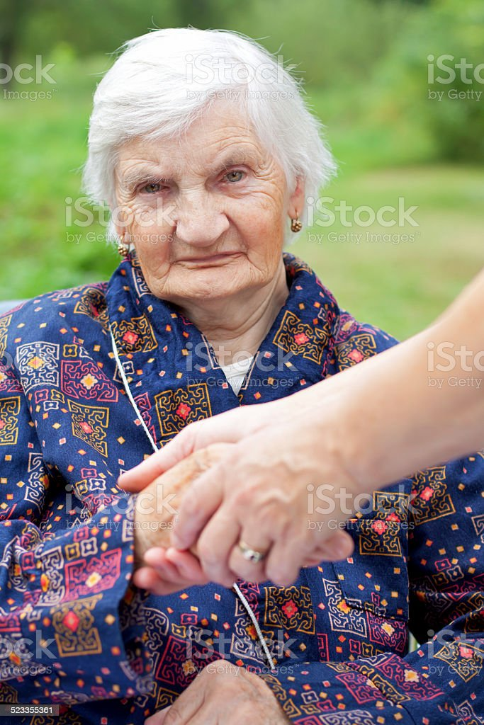 Handicap woman stock photo