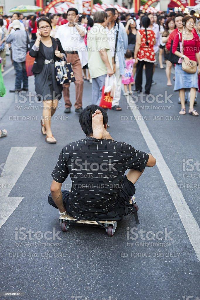 Handicaped beggar royalty-free stock photo