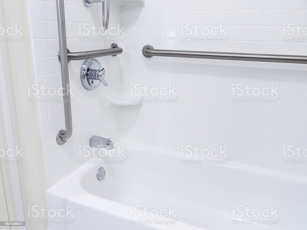 Handicapped Access Bathroom Shower royalty-free stock photo