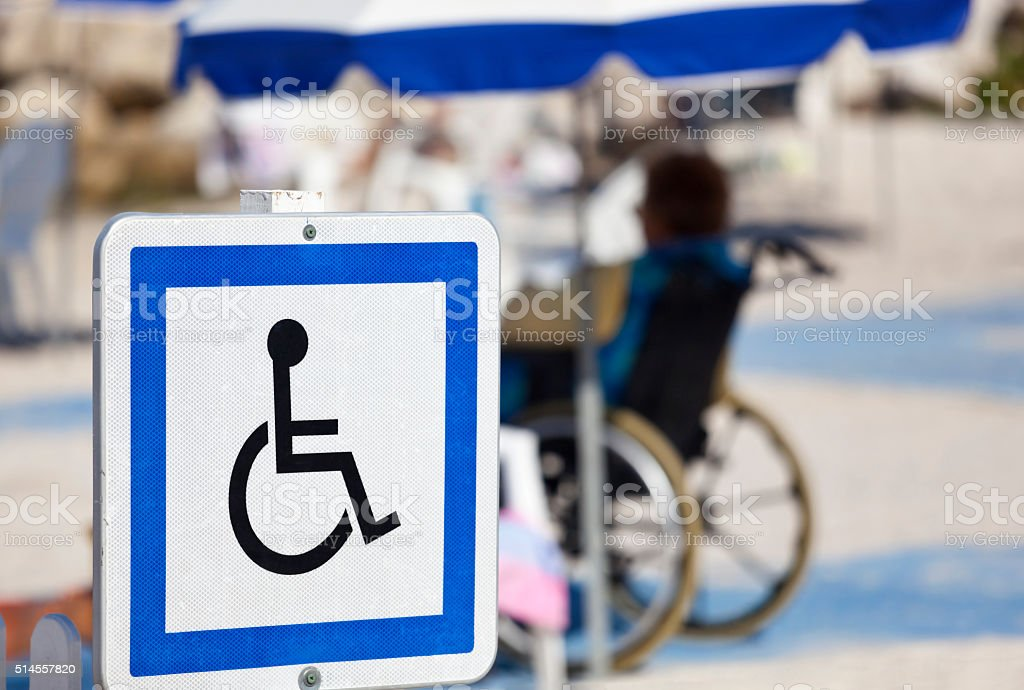 Handicapped Facilities on Holiday stock photo