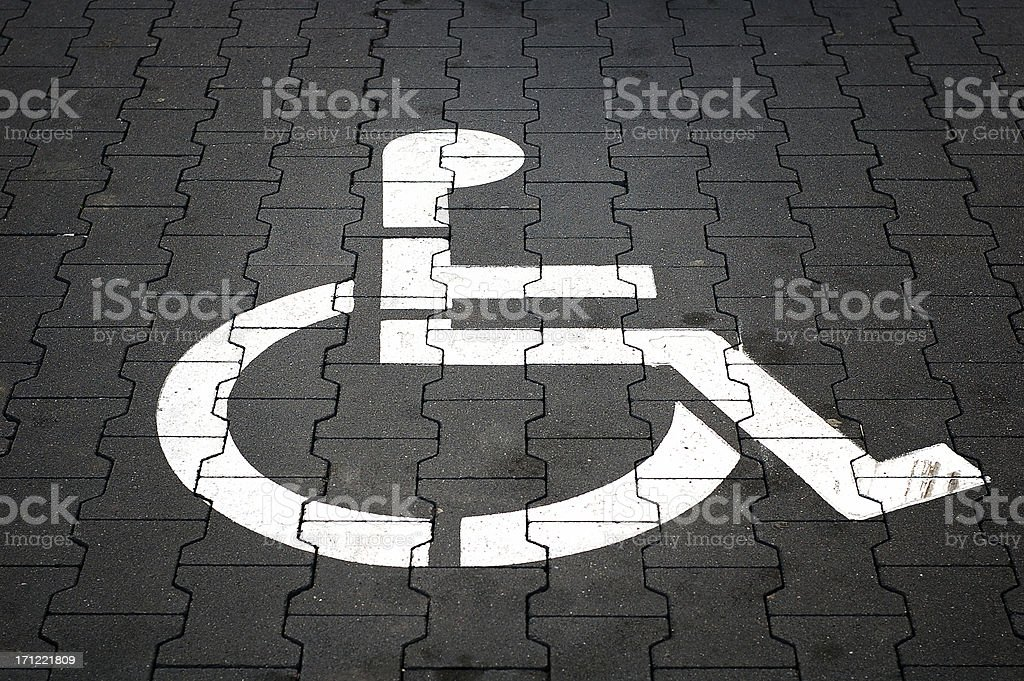 Handicapped only 2 royalty-free stock photo