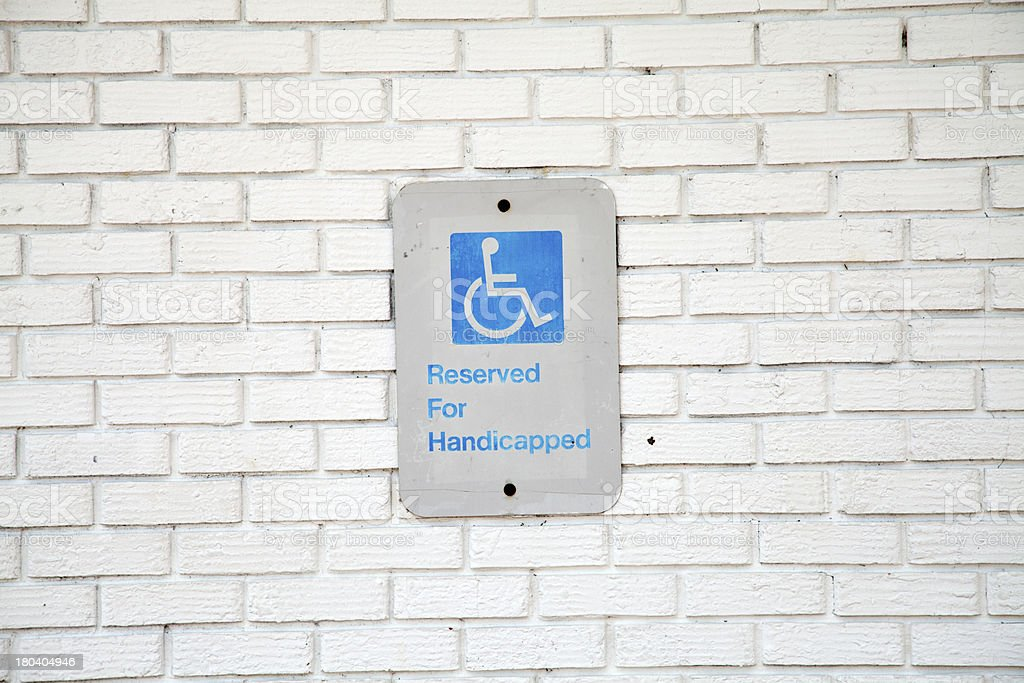 Handicapped Parking Sign royalty-free stock photo