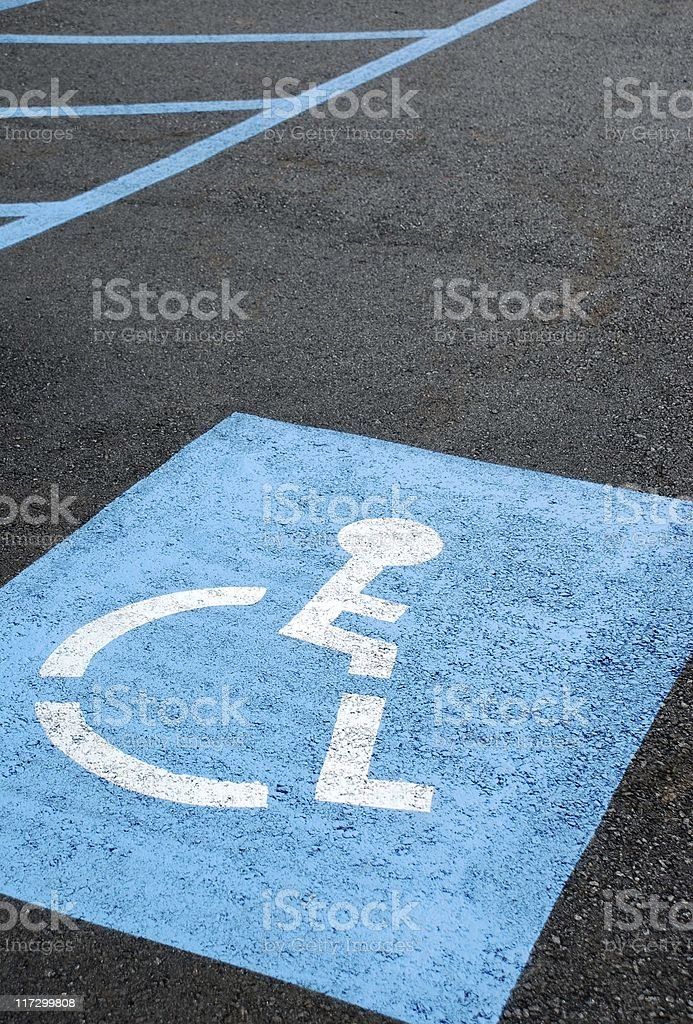 Handicapped parking space royalty-free stock photo