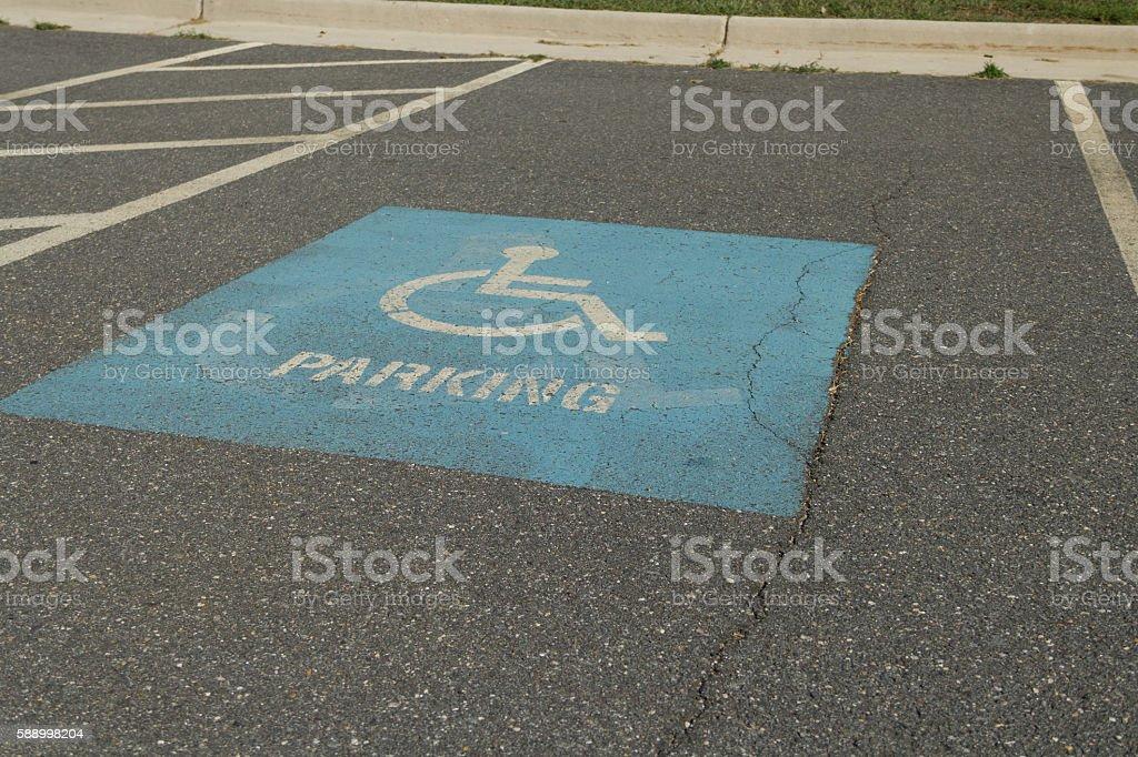 Handicapped parking spot stock photo
