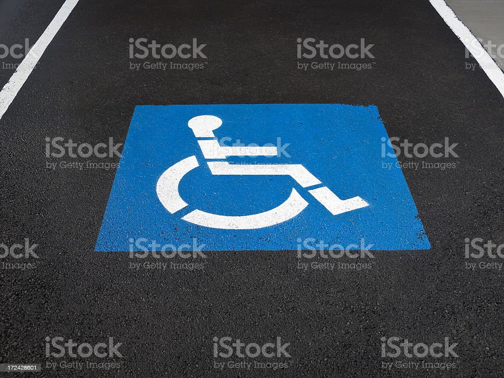 Handicapped Parking Stall royalty-free stock photo