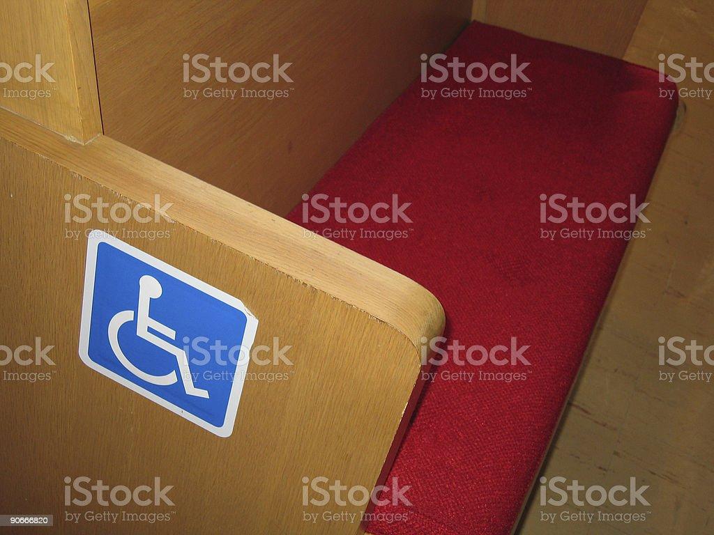 Handicapped Pew stock photo